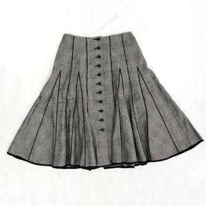 Nanette Lepore Vintage High Waisted Plaid Skirt 6